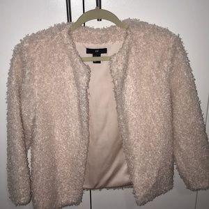 Pink fluffy blazer/cardigan